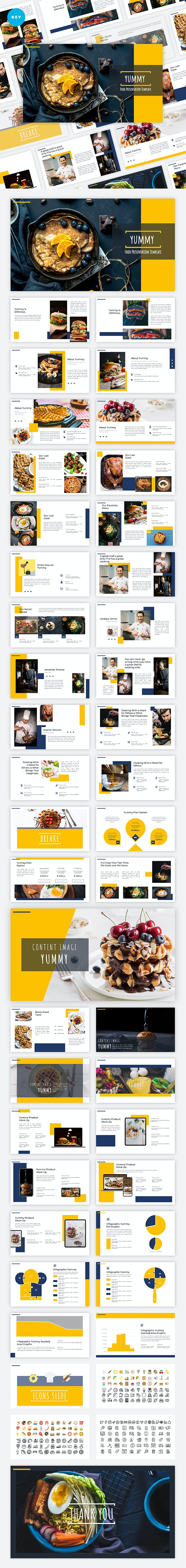 Yummy - Food Keynote Template - Creative Keynote Templates