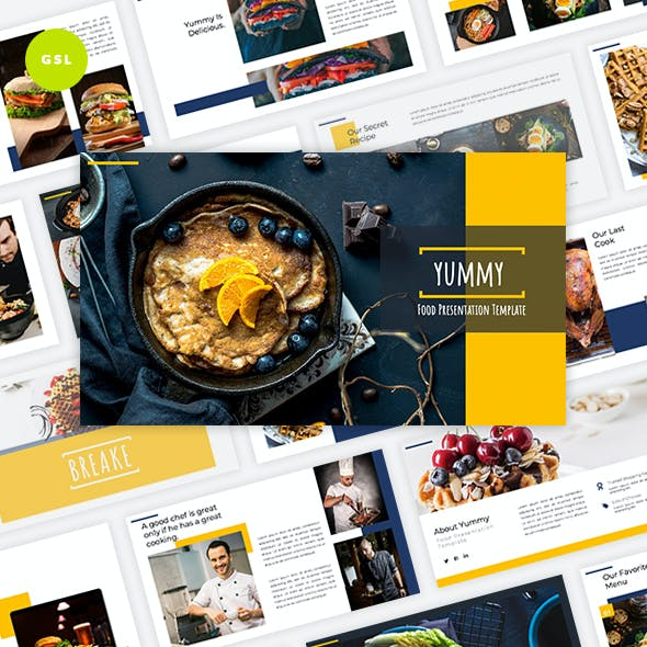 Yummy - Food Google Slides Template by Graphiqa