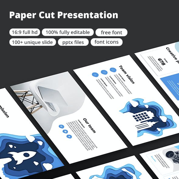Paper Cut Google Slide