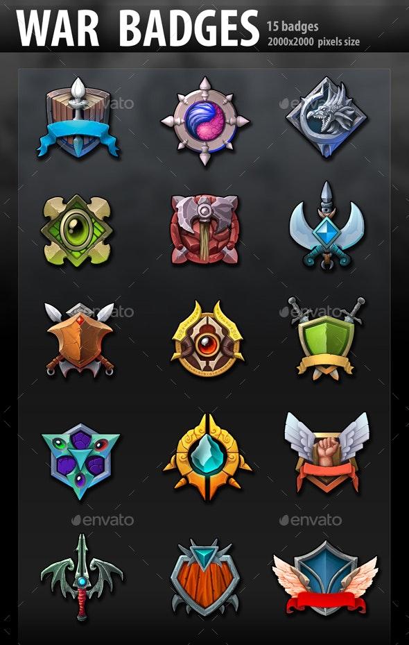 War Badges - Miscellaneous Game Assets