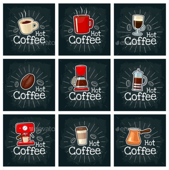 Coffee Set Icon - Food Objects
