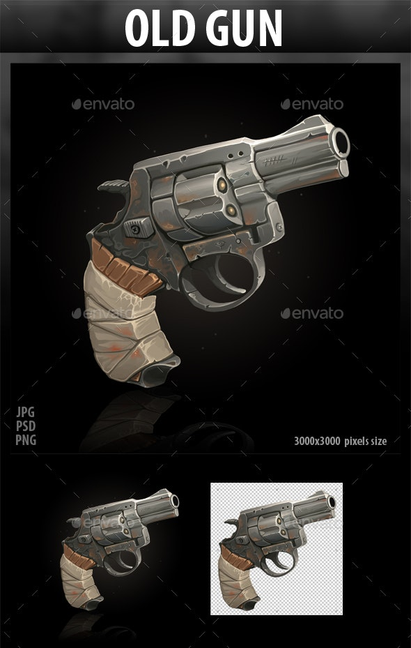 Old Gun - Objects Illustrations