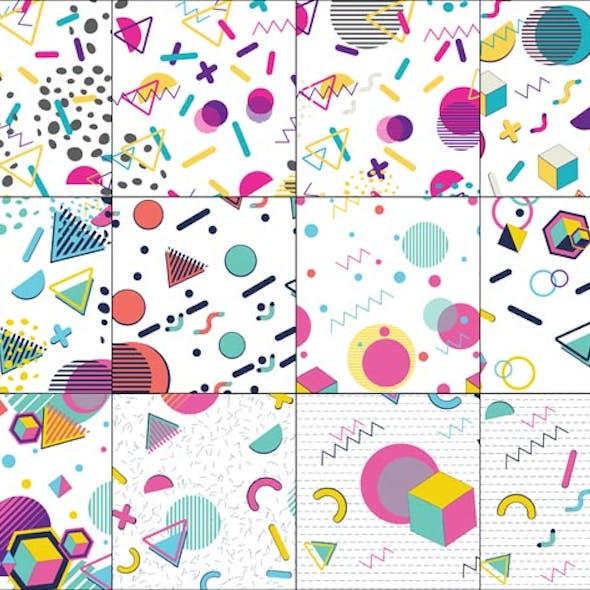 Colorful Memphis Pattern