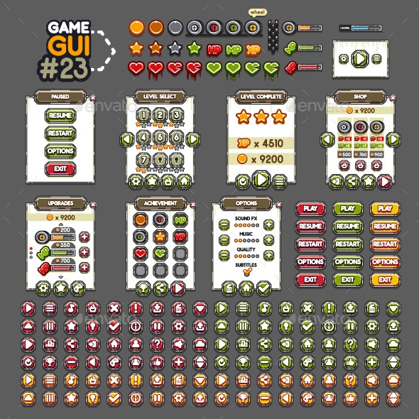 Game GUI #23 - User Interfaces Game Assets