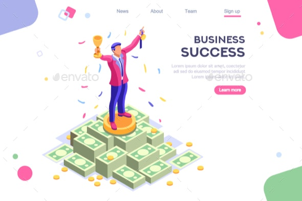 Business Earn Application Banner - Concepts Business