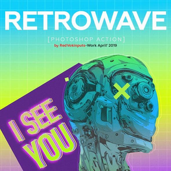 Retrowave Photoshop Action