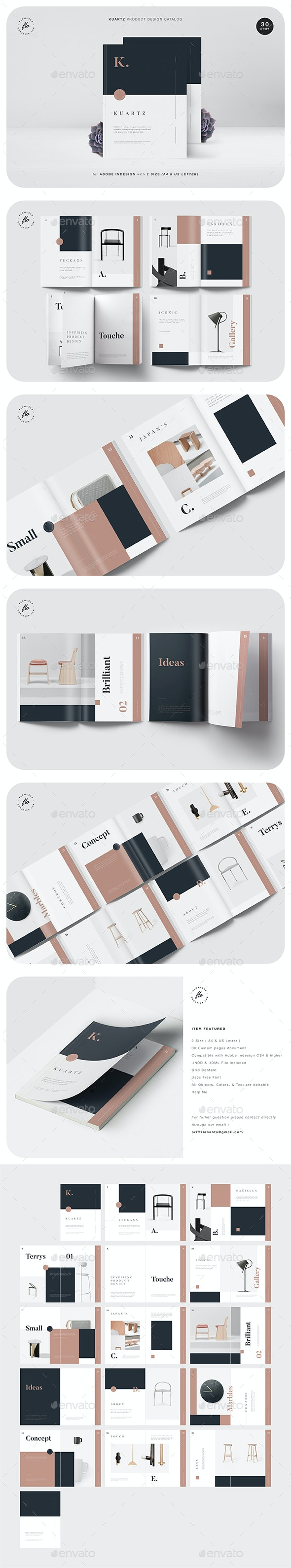 Kuartz Product Design Catalog - Magazines Print Templates