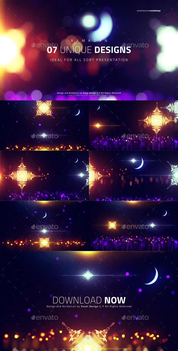 RAMADAN Islamic Backgrounds Pack - Backgrounds Graphics