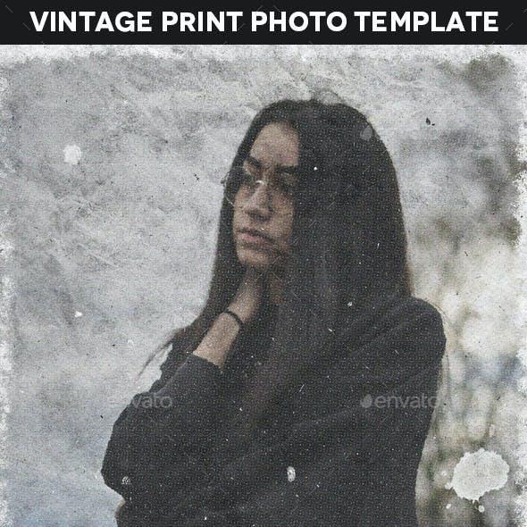 Vintage Print Photo Template
