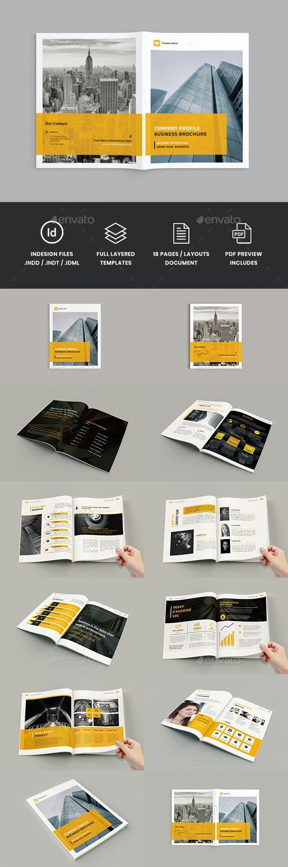 Deadalus - A4 Company Profile Brochure Template - Corporate Brochures
