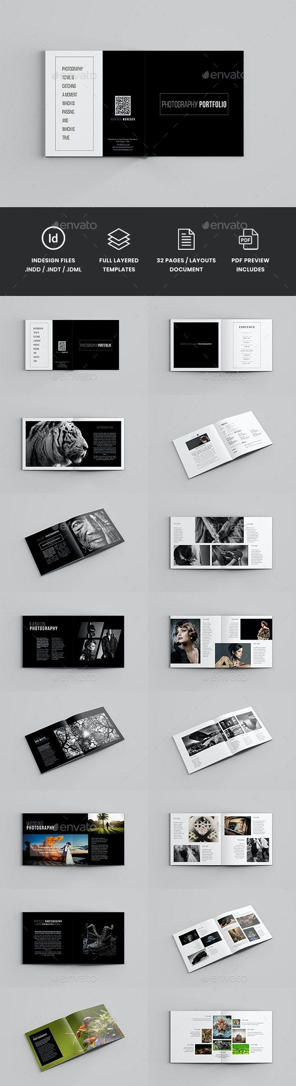 Gravix - Square Photography Brochure Template - Portfolio Brochures