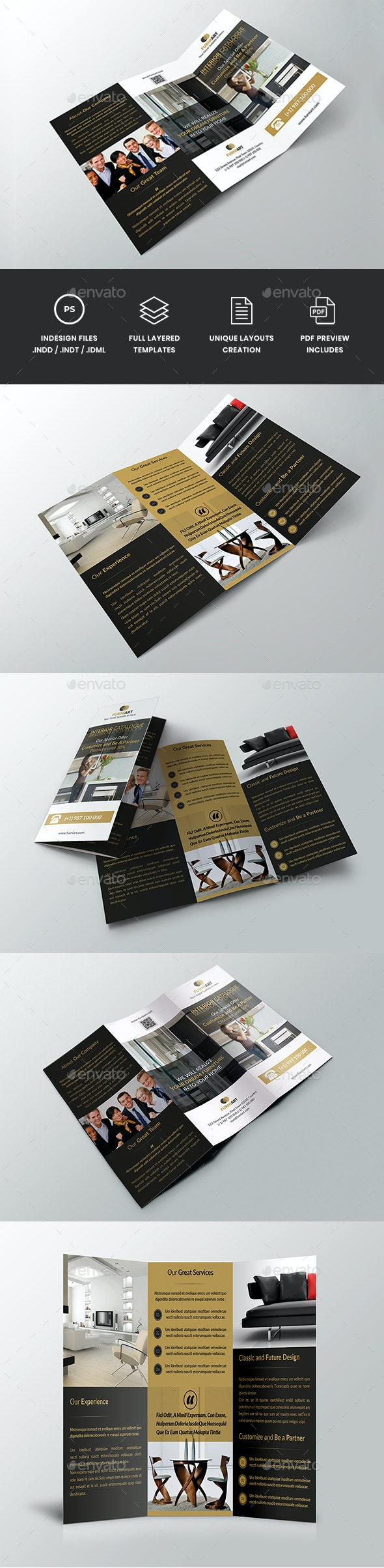 Georgyno - Simple Trifold Brochure Template - Corporate Brochures
