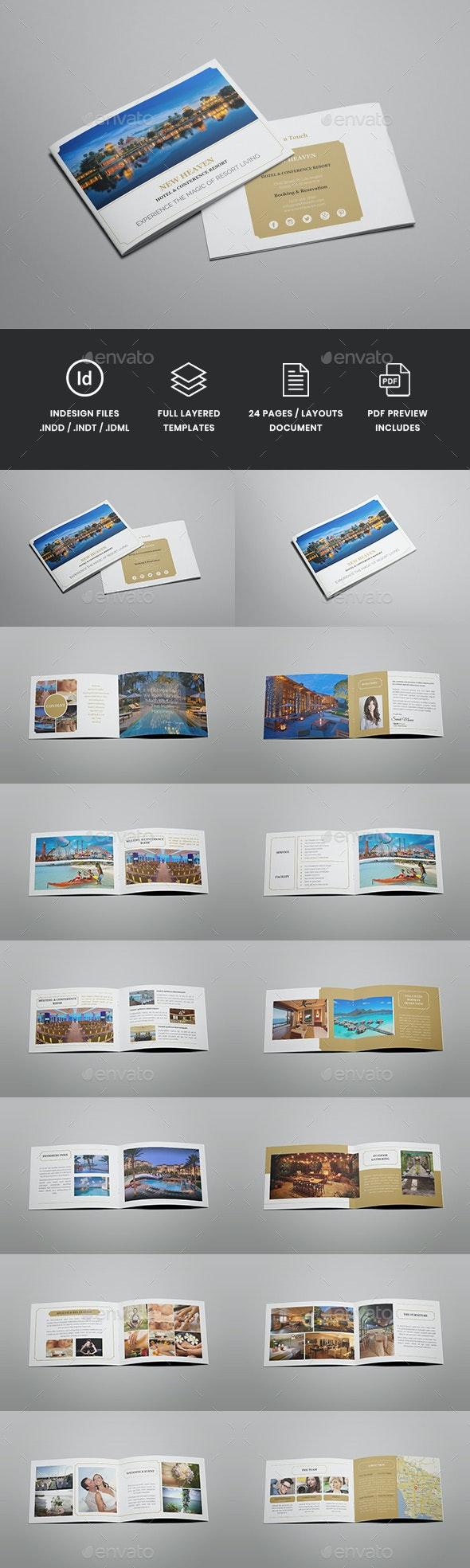 Nixie - A5 Hotel Brochure Template - Catalogs Brochures