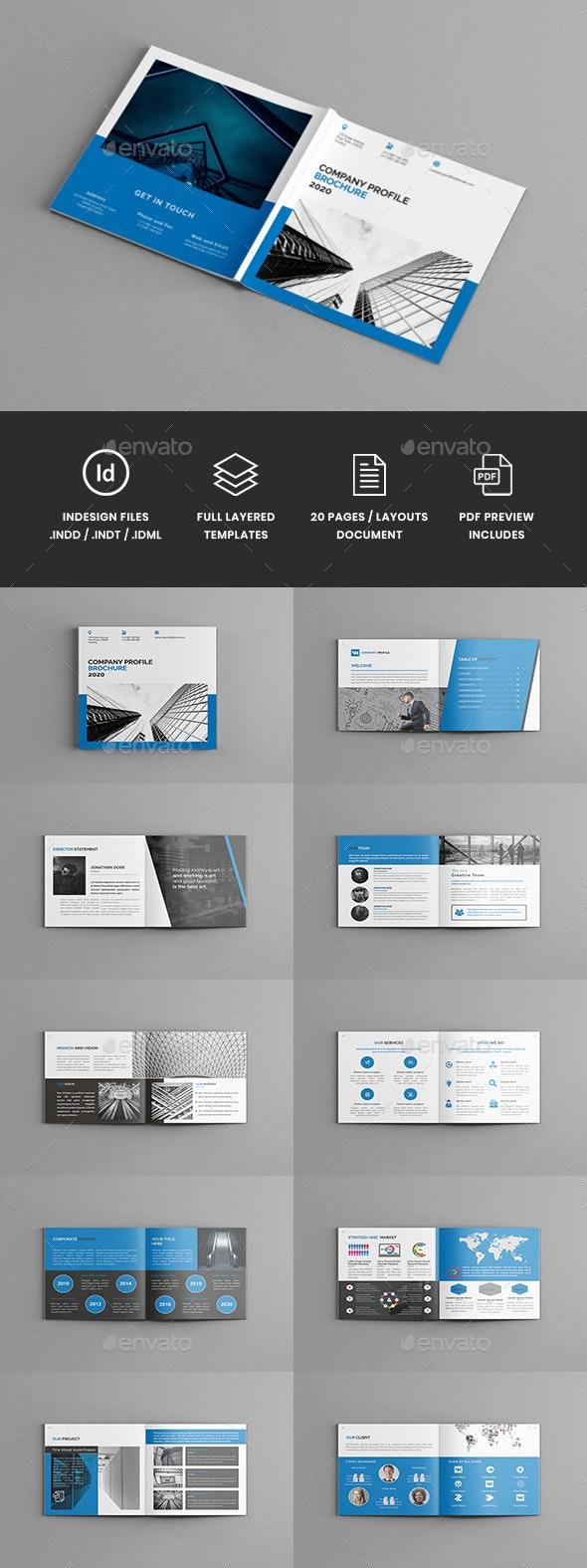 Mavka - Square Company Profile Brochure Template - Corporate Brochures