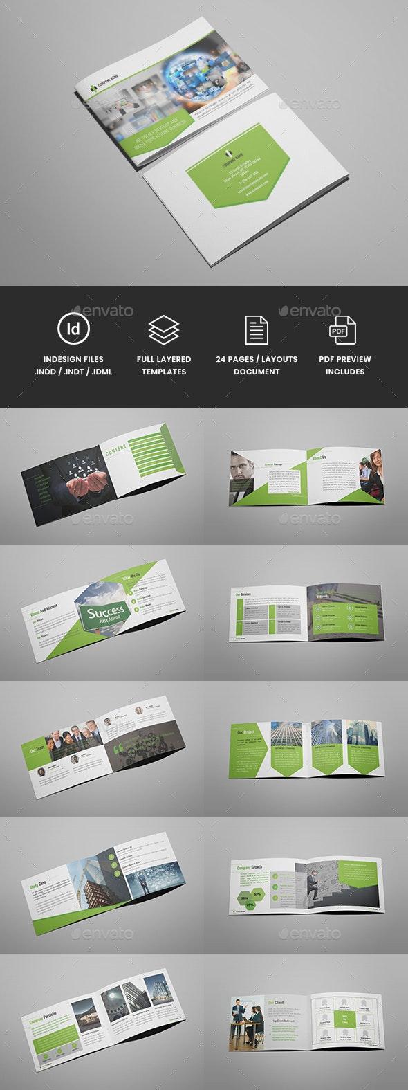 Wonderpro - A5 Business Brochure Template - Corporate Brochures