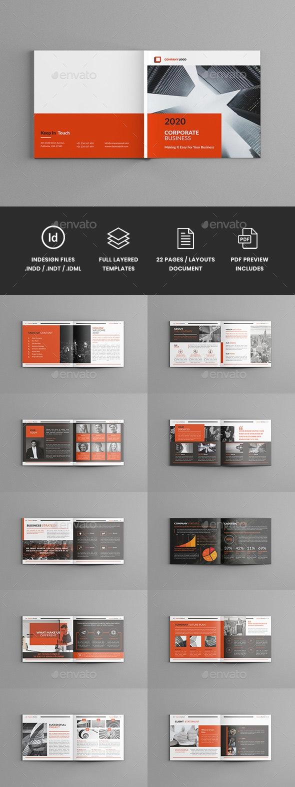 Lothar - Square Corporate Brochure Template - Corporate Brochures