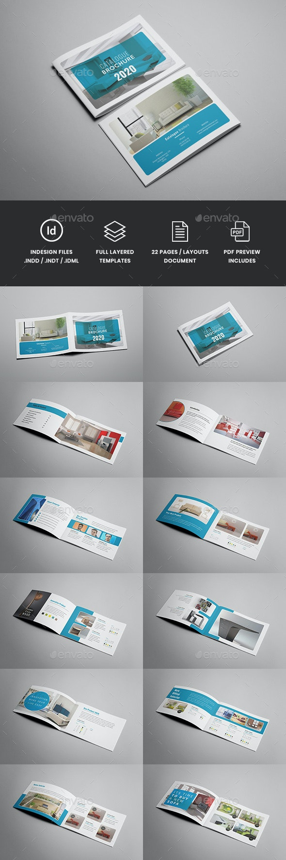 Helena - A5 Minimal Interior Brochure Template - Catalogs Brochures