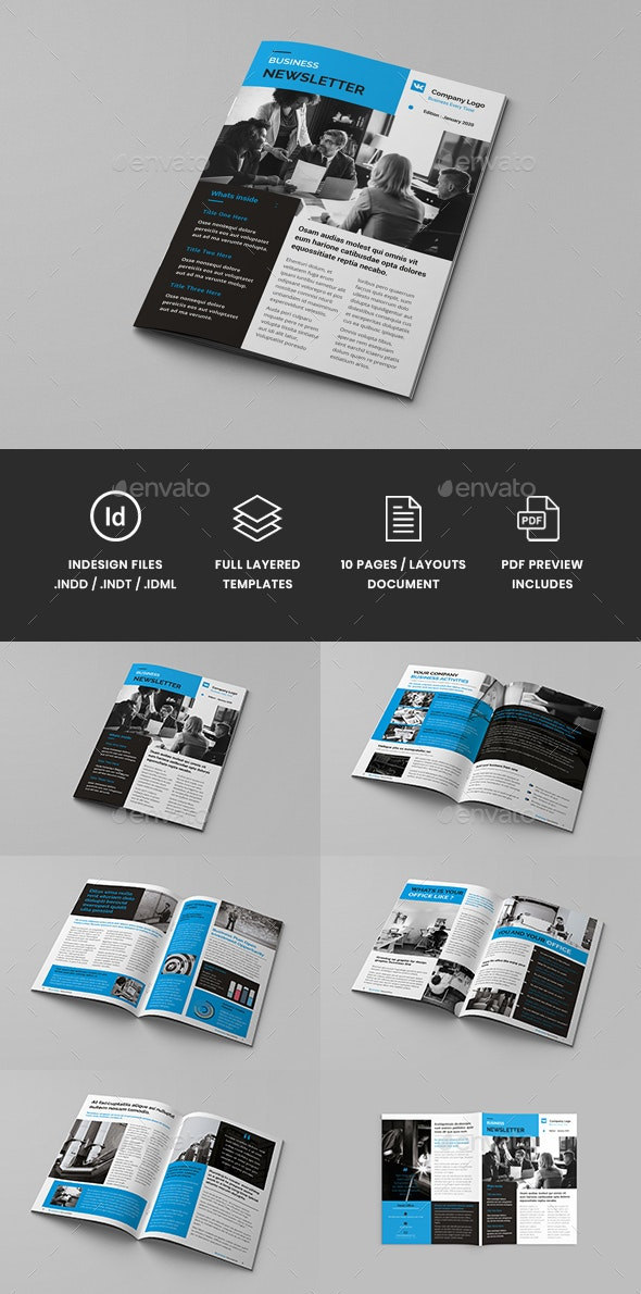 Omnipro - A4 Business Newsletter Brochure Template - Corporate Brochures