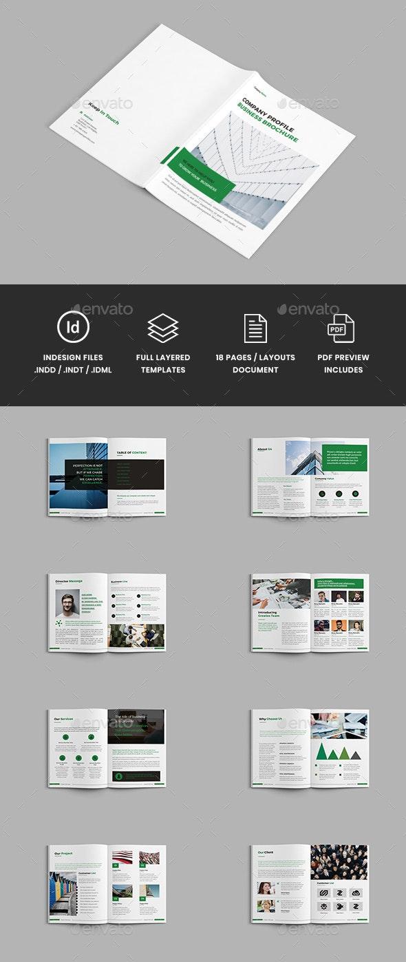 Corpora - A4 Company Profile Brochure Template - Corporate Brochures