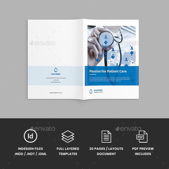 Medicore - A4 Medical Brochure Template by StringLabs