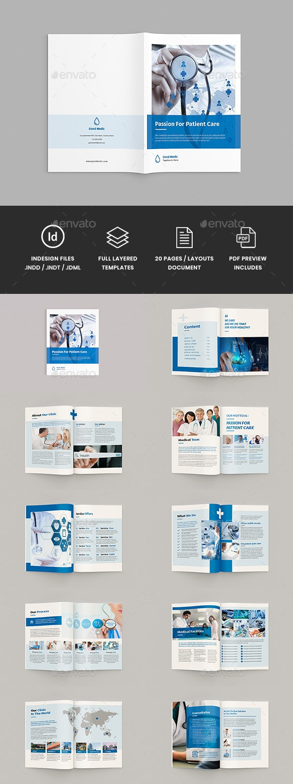 Medicore - A4 Medical Brochure Template - Corporate Brochures