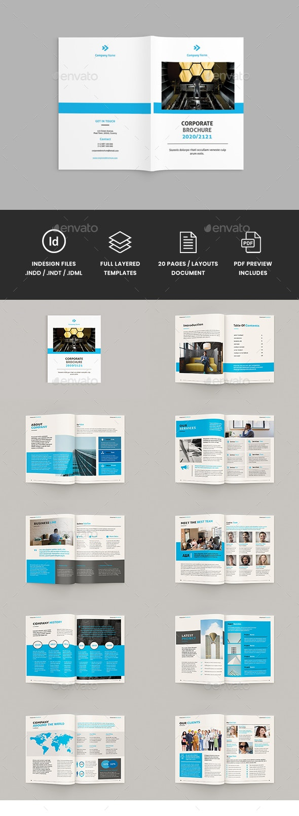 Brocore - A4 Corporate Brochure Template - Corporate Brochures