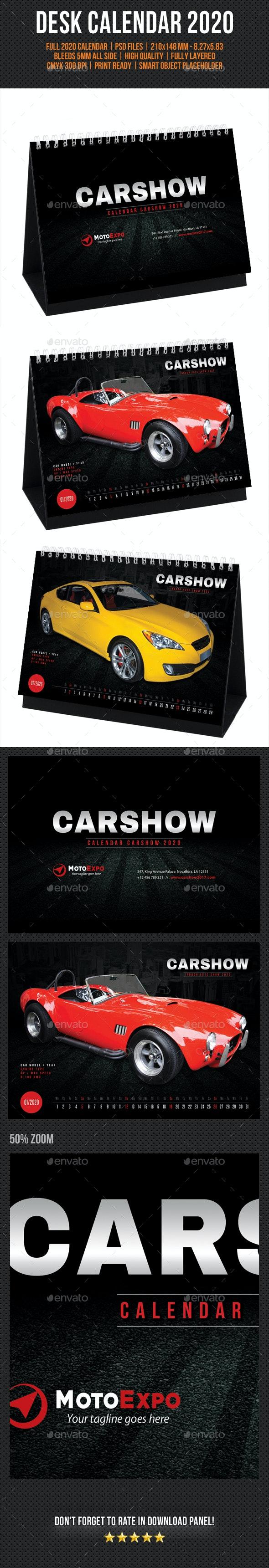 2020 Auto Show Calendar Auto Show Desk Calendar 2020 by rapidgraf | GraphicRiver