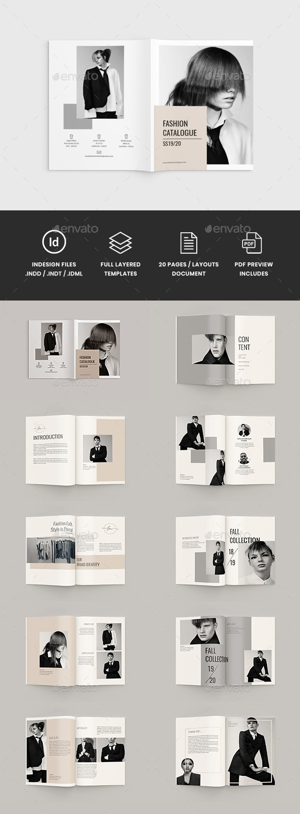 Fashioneta - A4 Fashion Brochure Template - Catalogs Brochures