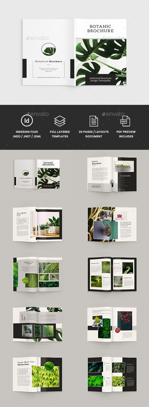 Botanics - A4 Botanical Brochure Template - Corporate Brochures