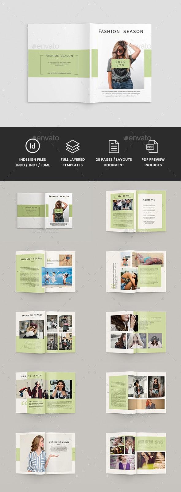 Fazione - A4 Fashion Brochure Template - Catalogs Brochures