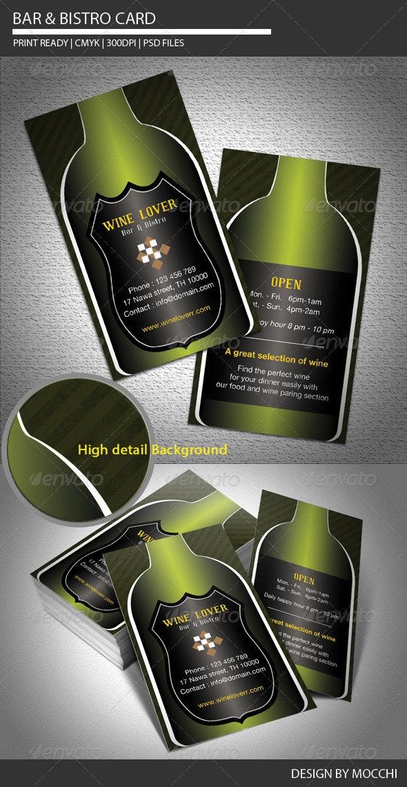 Bar & Bistro Card - Creative Business Cards