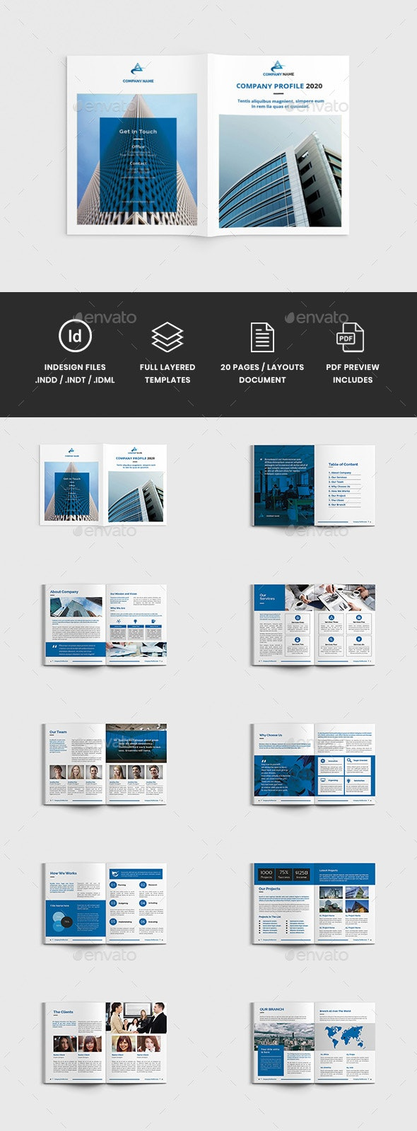 Workz - A4 Business Brochure Template - Corporate Brochures