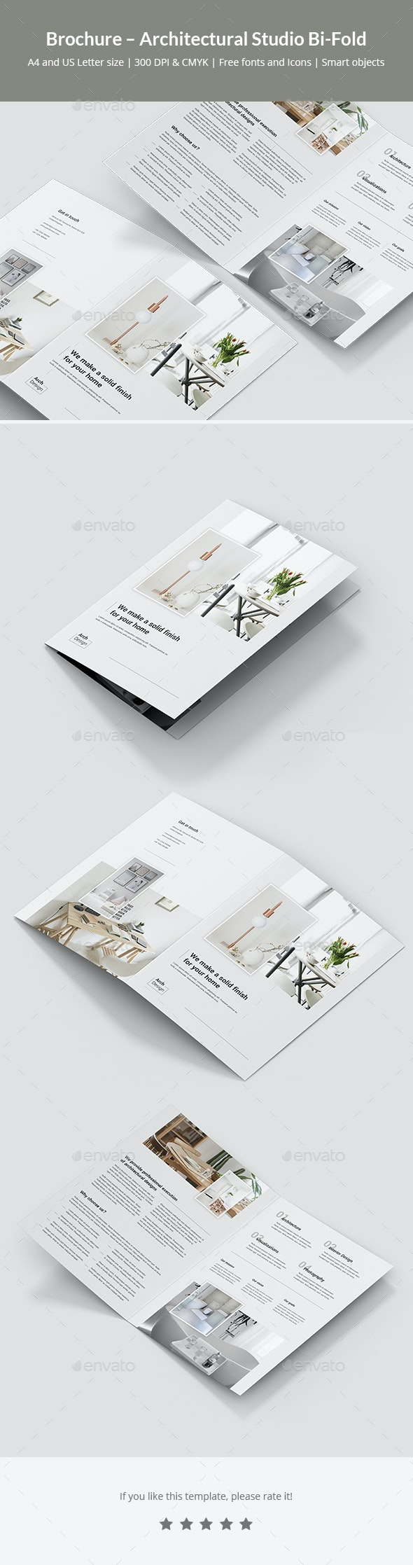 Brochure – Architectural Studio Bi-Fold - Corporate Brochures