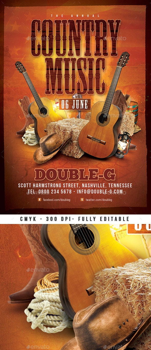 Country Music Usa Western Flyer - Events Flyers