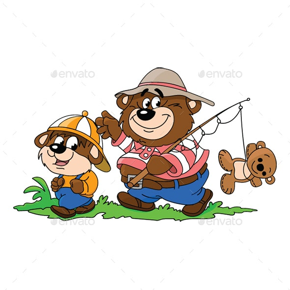 Cartoon Bears - Sports/Activity Conceptual