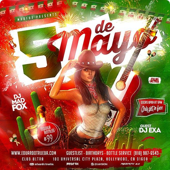 5 Cinco de Mayo Party Flyer