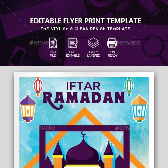 Ramadan Kareem Mubarak Flyer