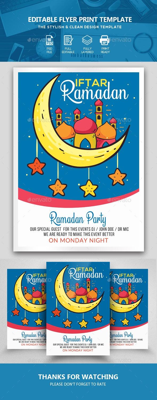 Ramadan Kareem Flyer Template - Events Flyers