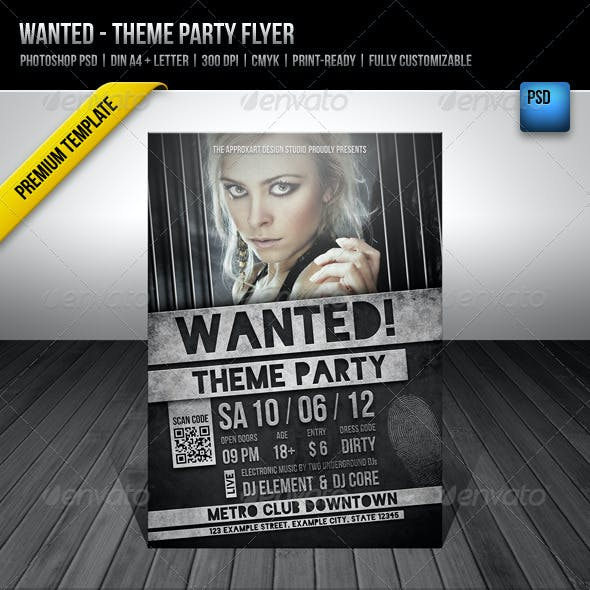 Wanted - Theme Party Flyer