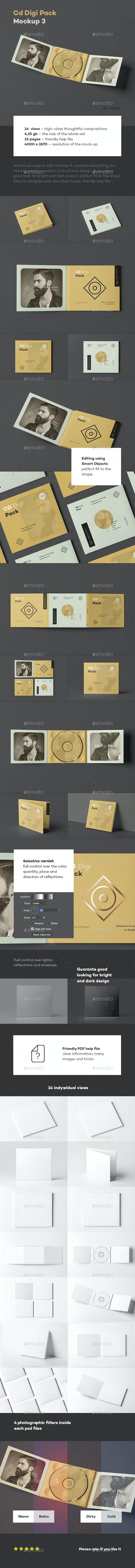 CD Digi Pack Mock-up 3 - Discs Packaging