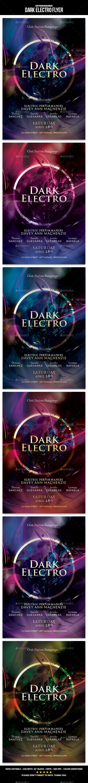 Dark Electro Flyer - Events Flyers