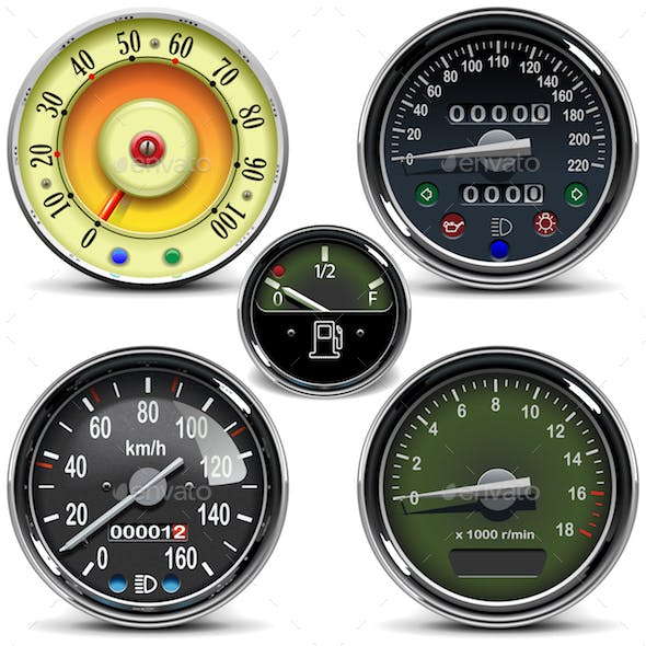 Vector Automotive Speedometers