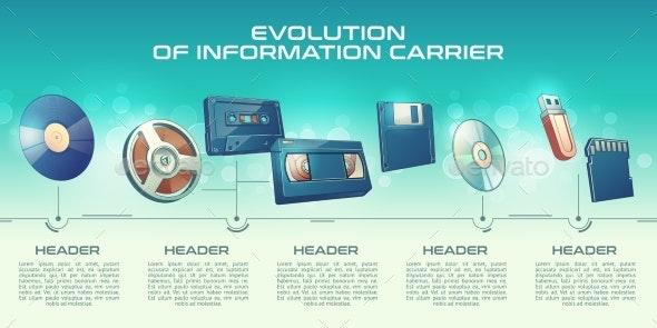 Information Carriers Technologies Progress Vector - Technology Conceptual