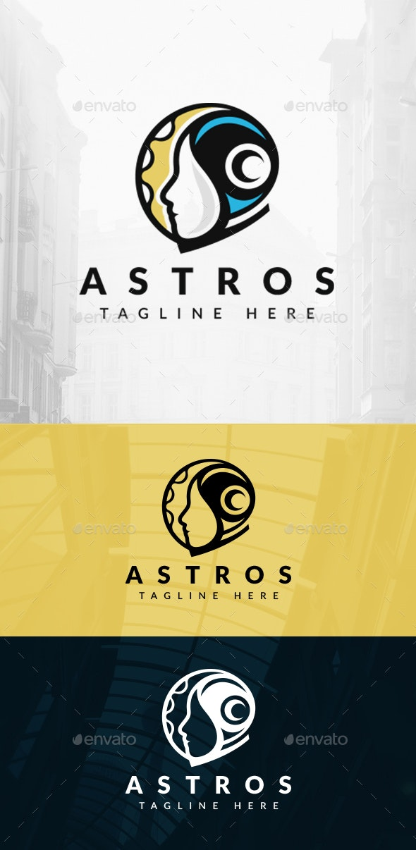 Moon Astronaut Logo - Humans Logo Templates