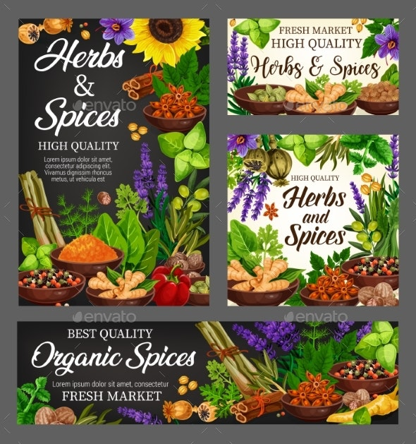 Spices, Culinary Herbs Seasoning - Food Objects
