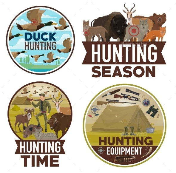 Animals Hunting Season, Equipment - Sports/Activity Conceptual