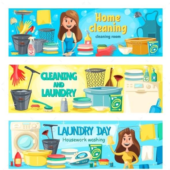 House Cleaning, Laundry, Washing