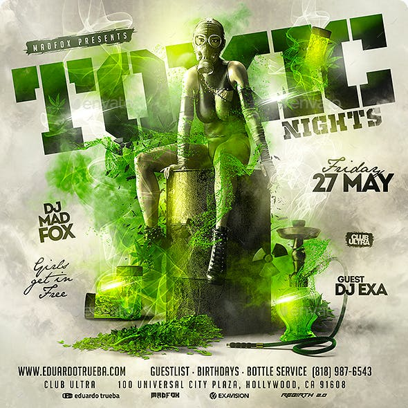 Toxic Nights Party Flyer