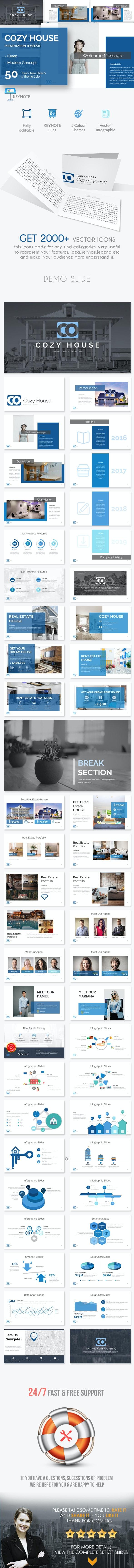 Cozy House Keynote Presentation Template - Creative Keynote Templates