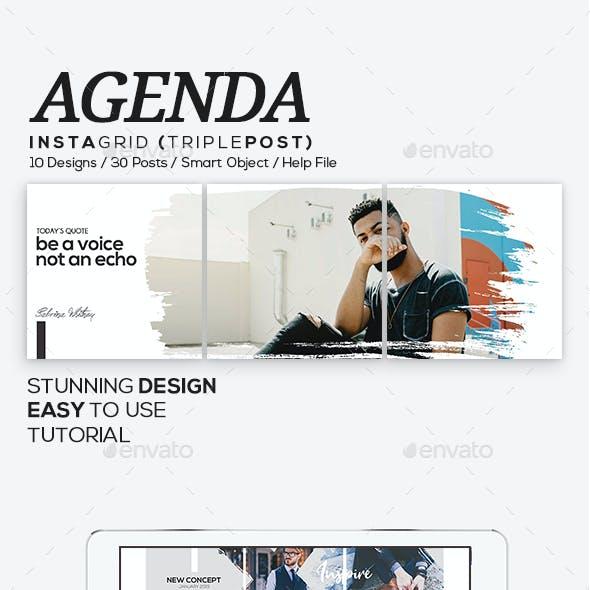Agenda Insta Grid (Triple Post)